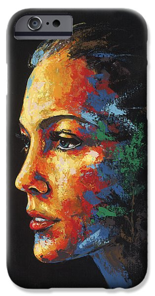 Sun Rays Paintings iPhone Cases - Sun Kissed - with hidden pictures iPhone Case by Konni Jensen