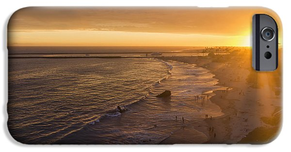 Sun Rays Digital iPhone Cases - Sun Rays At Inspiration Point iPhone Case by Eddie Yerkish