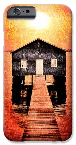 Shed iPhone Cases - Sun Scars iPhone Case by Az Jackson