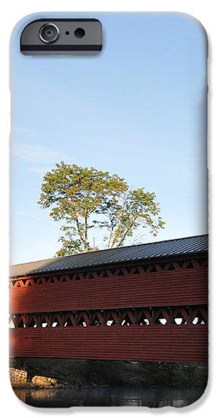 Sun Up at Sachs Covered Bridge iPhone Case by Bill Cannon