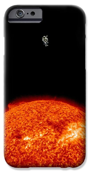 Vacation Digital iPhone Cases - Sun Vacation iPhone Case by Rr Co
