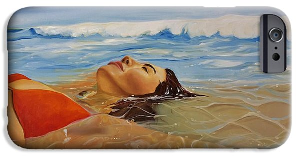 Ocean iPhone Cases - Sunbather iPhone Case by Crimson Shults
