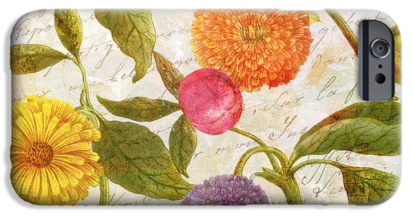 Botanical iPhone Cases - Sunbathers Botanical I iPhone Case by Mindy Sommers