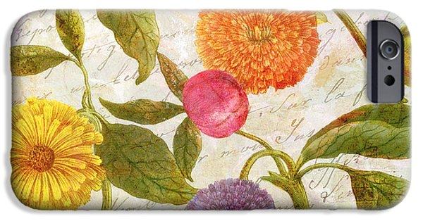 Botanical Paintings iPhone Cases - Sunbathers Botanical I iPhone Case by Mindy Sommers
