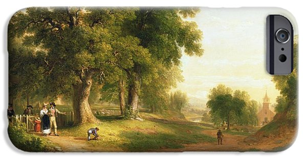 Rural iPhone Cases - Sunday Morning iPhone Case by Asher Brown Durand