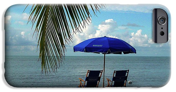 Susanne Van Hulst iPhone Cases - Sunday Morning at the Beach in Key West iPhone Case by Susanne Van Hulst