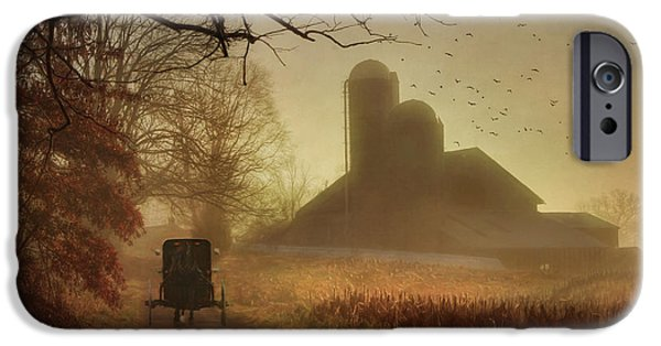 Farmland iPhone Cases - Sunday Morning iPhone Case by Lori Deiter