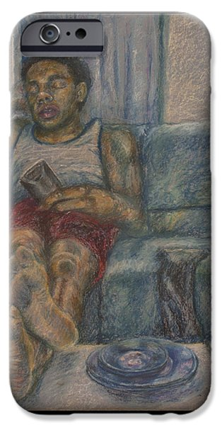Book Pastels iPhone Cases - Sunday Sloth iPhone Case by Paul Michael Wright