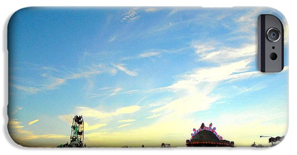 Agricultural iPhone Cases - Sundown Begins at the Fair iPhone Case by Mark Victors