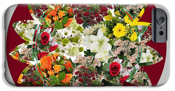 Diy iPhone Cases - Sunflower Bouquet Flower Arrangement  created by Navin Joshi Artist iPhone Case by Navin Joshi