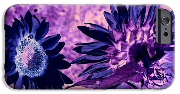 Nature Abstract iPhone Cases - Sunflower Vermont iPhone Case by Richard Ray