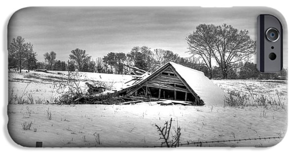 Old Barn iPhone Cases - Sunken History iPhone Case by Von Cook