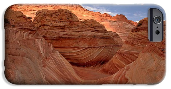 The Plateaus iPhone Cases - Sunkiss At Coyote Buttes iPhone Case by Adam Jewell