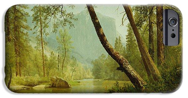 Hudson River iPhone Cases - Sunlit Forest iPhone Case by Albert Bierstadt