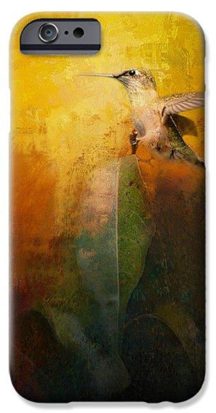 Birds iPhone Cases - Sunlit Landing iPhone Case by Jai Johnson