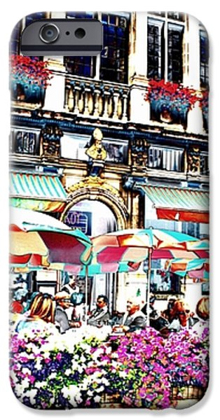 Sunny Day on the Grand Place iPhone Case by Carol Groenen