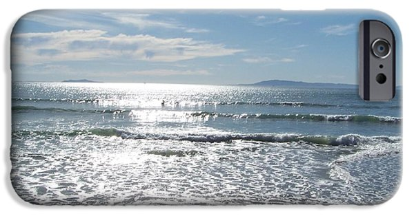 Rincon Beach iPhone Cases - Sunny Ocean Sky iPhone Case by Michelle LaRue