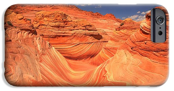 The Plateaus iPhone Cases - Sunny Skies At The Wave iPhone Case by Adam Jewell