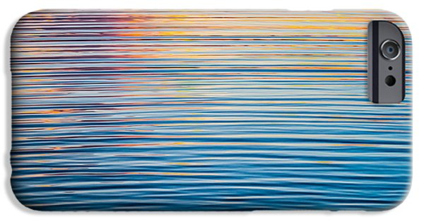 Recently Sold -  - Creek iPhone Cases - Sunrise Abstract On Calm Waters iPhone Case by Parker Cunningham