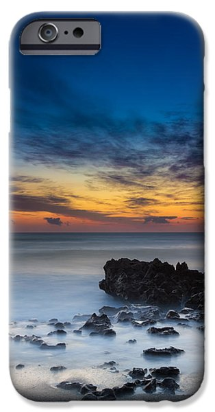 Fog iPhone Cases - Sunrise at Coral Cove Park in Jupiter Vertical iPhone Case by Andres Leon