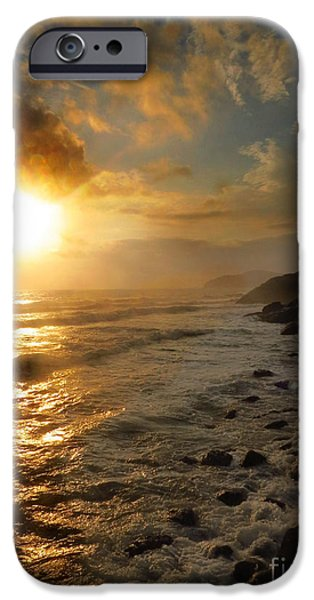 Clouds Tapestries - Textiles iPhone Cases - Sunrise by the Rocks iPhone Case by James Hennis