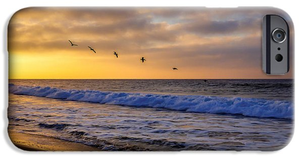 Flight iPhone Cases - Sunrise Flight iPhone Case by Pamela Newcomb