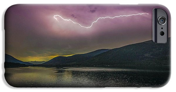 Electrical iPhone Cases - Sunrise Lightning 2 iPhone Case by Joy McAdams