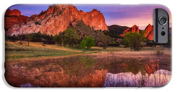 Reflections Of Nature iPhone Cases - Sunrise of the Gods iPhone Case by Darren  White