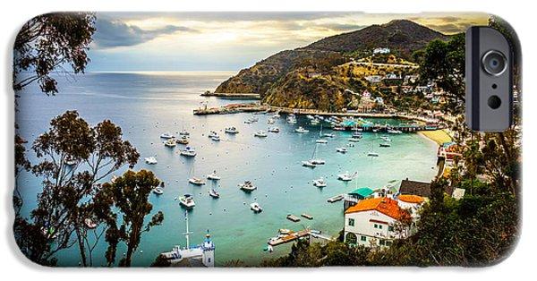 Morning iPhone Cases - Sunrise on Catalina Island Avalon Bay California iPhone Case by Paul Velgos