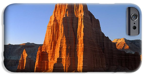 Cathedral Rock iPhone Cases - Sunrise on Temple of the Sun 212650 iPhone Case by Ed  Cooper Photography