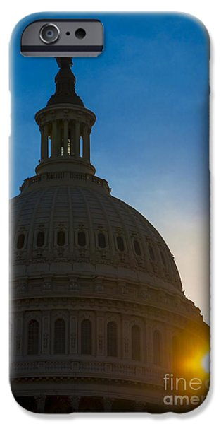 Recently Sold -  - Buildings iPhone Cases - Sunrise on the United States Capitol Building  iPhone Case by Diane Diederich