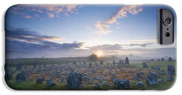 Recently Sold -  - Ruin iPhone Cases - Sunrise Over Beaghmore Stone Circles iPhone Case by Gareth McCormack