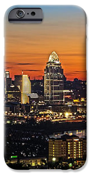 Sunrise over Cincinnati iPhone Case by Keith Allen