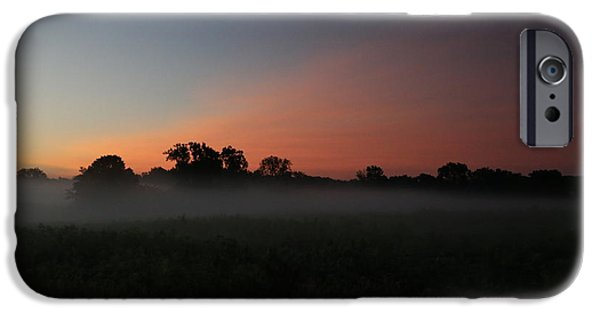 Morning iPhone Cases - Sunrise Over Fog iPhone Case by Jeff Roney