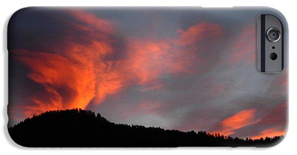 Quaker Paintings iPhone Cases - Sunrise over Quaker Ridge iPhone Case by Dennis  Rundlett
