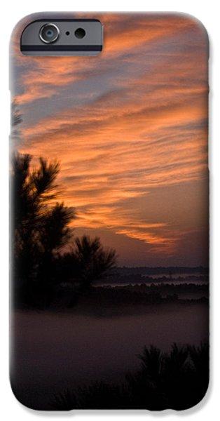 Sunrise Over the Mist iPhone Case by Douglas Barnett