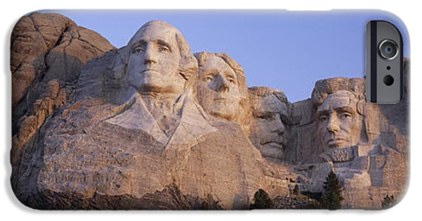President iPhone Cases - Sunrise Panoramic Image Of Presidents iPhone Case by Panoramic Images