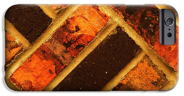 Abstract Digital Photographs iPhone Cases - Sunrise Pattern iPhone Case by Jerod Scheiferstein