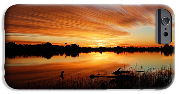 July iPhone Cases - Sunrise Reflected iPhone Case by Bill Kesler
