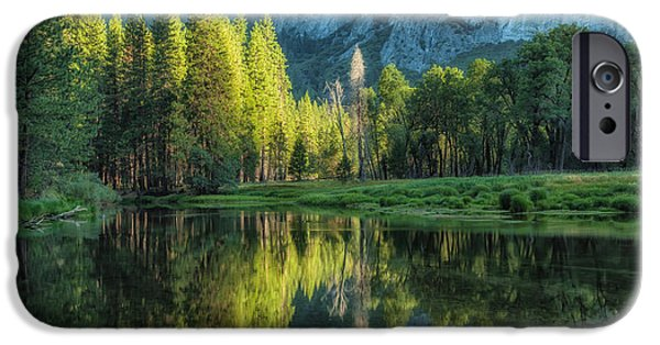 Pines iPhone Cases - Sunrise Reflection iPhone Case by Jonathan Nguyen