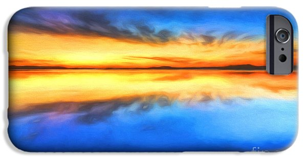 Contemporary Abstract iPhone Cases - Sunrise iPhone Case by Veikko Suikkanen
