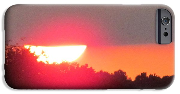 Flight iPhone Cases - Sunset 2015 August 2 Of 4 iPhone Case by Tina M Wenger