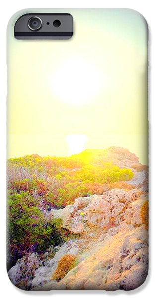 Mental Process iPhone Cases - Sunset A  iPhone Case by Hilde Widerberg
