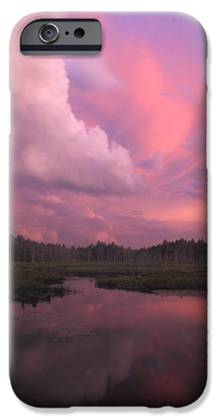 Franklin iPhone Cases - Sunset after Thunderstorm iPhone Case by John Burk