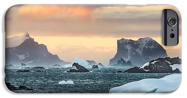 Beautiful iPhone Cases - Sunset Along Antarctic Peninsula - Antarctica Photograph by Duane Miller iPhone Case by Duane Miller