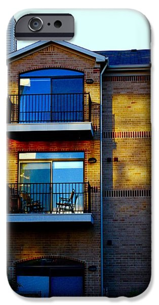 Balcony iPhone Cases - Sunset Apartments iPhone Case by Jackson ElRite