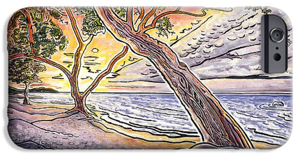 Fay iPhone Cases - Sunset at Anaehoomalu Bay iPhone Case by Fay Biegun - Printscapes