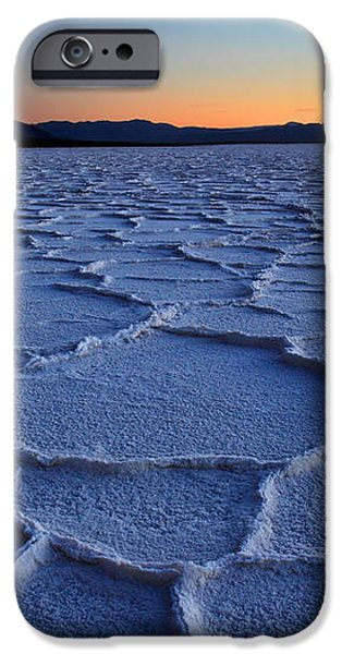 Sunset at Badwater in Death Valley iPhone Case by Pierre Leclerc Photography
