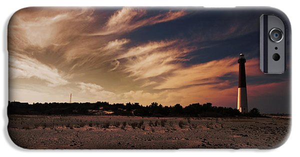 Buildings iPhone Cases - Sunset at Barnegat Light iPhone Case by Tom Gari Gallery-Three-Photography