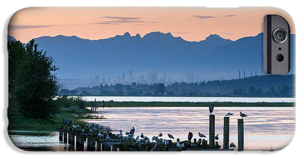 Ocean Sunset iPhone Cases - Sunset at Blackie Spit iPhone Case by Michael Russell